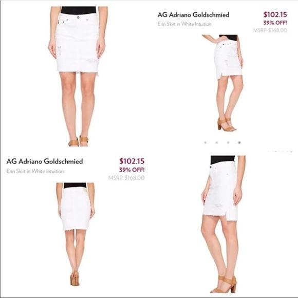 Ag Adriano Goldschmied Dresses & Skirts - Ag white Erin Pencil skirt